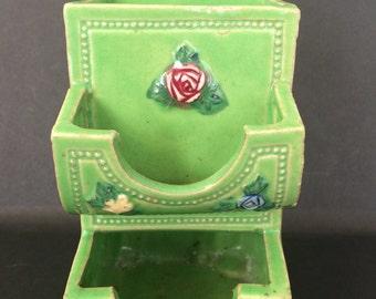 Vintage Ceramic Match Holder