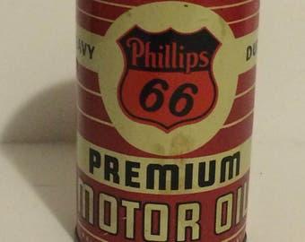 Vintage Phillips 66 Oil Can Bank