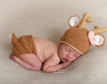 Newborn Deer Outfit, Baby Shower Gift Girl, Newborn Girl Photo Outfit, Infant Girl Clothes, Newborn Woodland Outfit, Gender Reveal Ideas