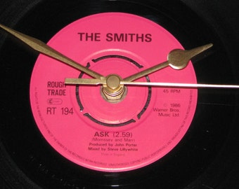 "The Smiths Ask  7"" vinyl record clock"