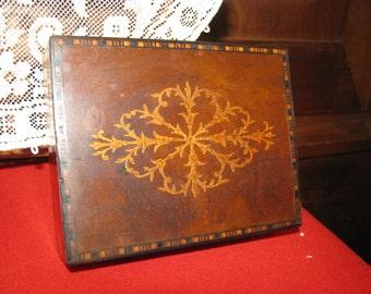 Vintage Wooden Inlaid Box