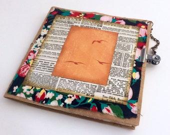 Junk Journal, Mini Journal, Small Scrap Album, Travel Journal, Niece Birthday Gift, Art Journal, Ticket Stub Album, Writing Book