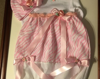 Newborn girls take home outfit