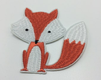 Fox Patch, Vintage Embroidered Patch, Wilderness Patch, Cute Patch, Woodland Patch, Applique Iron On Patch