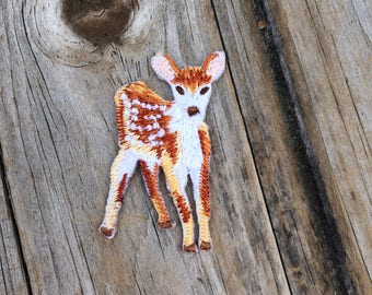 Deer Patch, Vintage Embroidered Patch, Animal Patch, Patch, Applique Iron On Patch