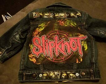 One of a Kind Kids Slipknot Jean Jacket!!