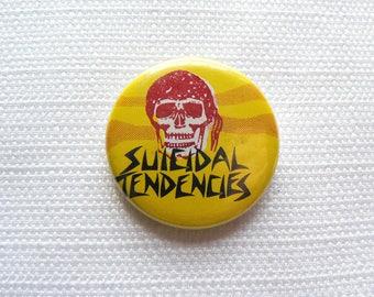 Vintage 1980s Suicidal Tendencies Pin / Button / Badge