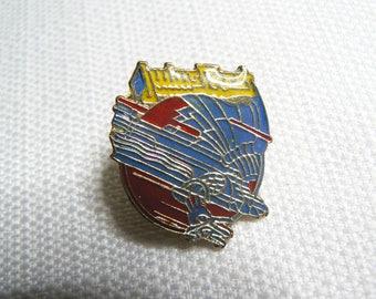 Vintage 80s Judas Priest - Screaming for Vengeance Album (1982) Enamel Pin / Button / Badge