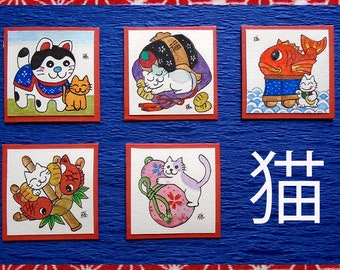 Japanese Arts Cats & Japanese Good Luck Talismans ENGIMONO 猫と縁起物