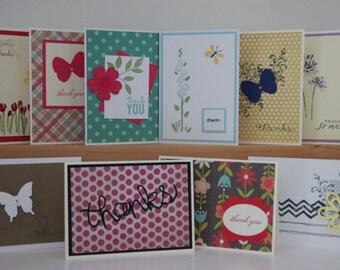 10 Thank you Cards. Assortment Set. Handmade Thank You Cards. Thank You Greeting Cards. Thank You Card Set.Thank You Greeting Cards (2017)