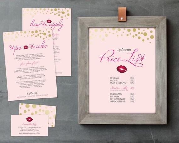 lipsense printable lipsense party printable package diy. Black Bedroom Furniture Sets. Home Design Ideas