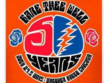 Grateful Dead Chicago Fare Thee Well Lot Shirt   Men's