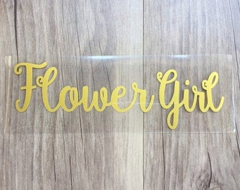 Flower Girl  iron on , Bachelorette party iron on transfers for T shirt , Tank top