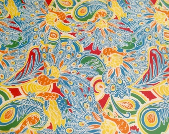 Shake Your Tail Feather cotton twill  9 X 18 or 18 X 18 inches ~Lilly Pulitzer