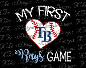 My First Rays Game - Tampa Bay Rays Baseball - SVG Design Download - Vector Cut File