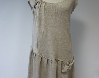 Casual natural linen tunic, L size. One-of-a-kind.