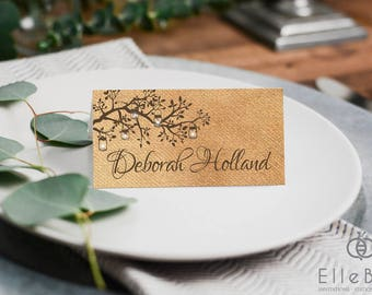Rustic Wedding Place Cards // Rustic Wedding // Branches & Lanterns Wedding Place Cards // Poplar Collection // Elle Bee Design