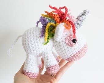PATTERN ONLY: Crochet unicorn pattern, amigurumi unicorn pattern, crochet animal pattern, PDF crochet pattern, pdf pattern