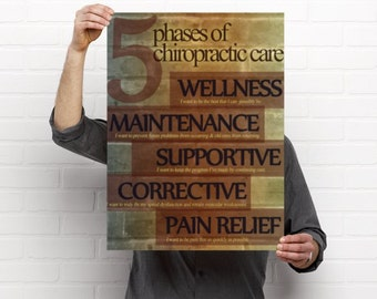 5 Phases of Care Chiropractic Anatomy Artwork