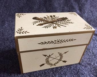 Vintage Ohio Art Co recipe box