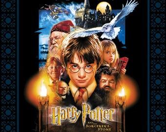 Harry Potter-Sorcerer's Stone Panel-Digital Printed-Camelot Cottons-1 Yard Panel