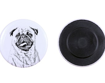 Magnet with a dog - Pug