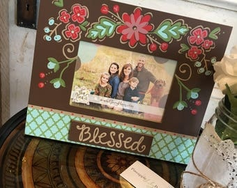 Blessed Floral 4X6 Picture Frame