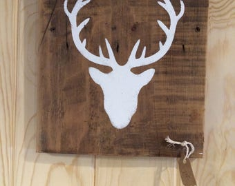 Deer and Wood Silhoutte: Wall Decor