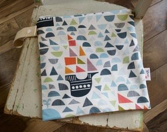 Viking Ships Mosaic Wet Bag - Blue - Green - Orange Waterproof Wetbag Swimsuit bag Nappy Bag Baby Diaper Bag Procare Liner