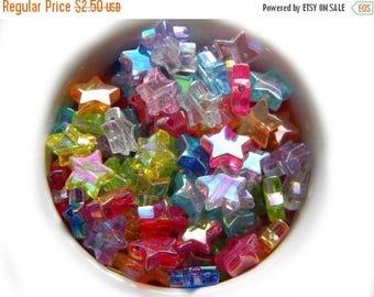 HALF PRICE 20 MIxed AB Star Beads