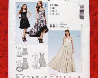 Burda Sewing Pattern 7011 Bridal Gown Formal Dress, Off Shoulder, Hi Lo Hem, Sizes 6 8 10 12 14 16, Evening Wear, Wedding Party, Prom, UNCUT