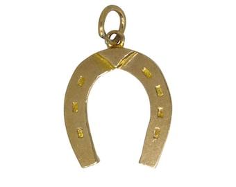 Gold Horse Shoe Charm