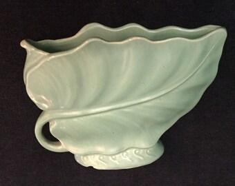 Vintage Brush McCoy Leaf Pattern Vase/Planter