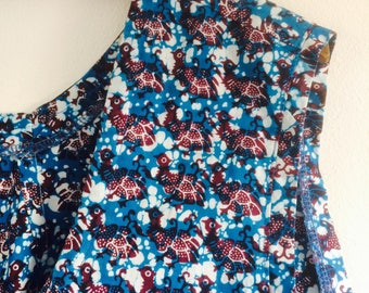 Cropped blouse | vintage top | festival wear| print top | 80s top | print blouse | vintage blouse