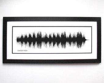 Harvest Moon - Neil Young - Music Sound Wave Wall Art Print, Unique Home Decor.
