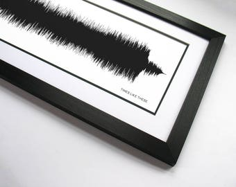Times Like These - Band Poster Print and Music Canvas Art - 90's Lyrics and Music - Sound Wave Art