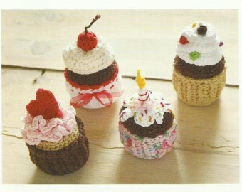 Crochet Cupcakes Crochet PDF Patttern