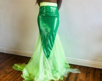 Ariel Mermaid inspired Women's Costume, Halloween, Party, Various Sizes