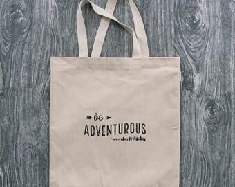 Be Adventurous - Wanderlust - 12oz Cotton Canvas Tote Bag