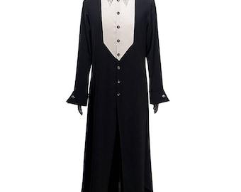 Vintage Retro Fashion Dandy Mens Dress Shirt Long Sleeves with Chic Cufflinks