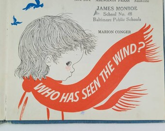Vintage Children's Book, Who Has Seen the Wind, 1950s Book, Vintage Library Book, Easy Reader Book, Short Story Book, Retro Kids Book