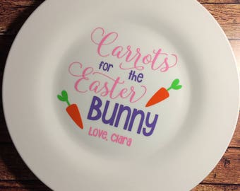 Carrots for the Easter Bunny Plate