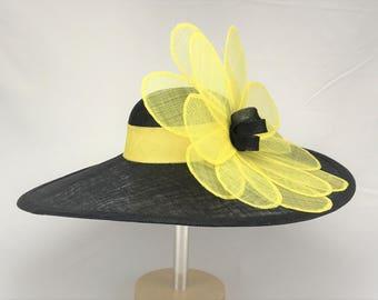 Black Eyed Susan Sinamay Hat