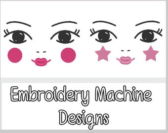 Russian Doll Face Embroidery DIY- 3 designs 2 Sizes! .PES Format