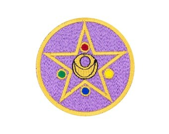Sailor Moon Crystal Star Embroidered Iron On Patch Iron on Applique