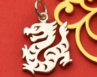 Sterling Silver Dragon Charm.