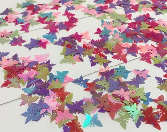 A fun mix of happy colored butterflies sequins / paillettes /confetti (SE01)