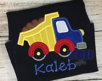 Embroidered Dump Truck Shirt Construction Shirt