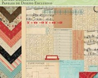 K&Company Designer Paper Pad, Kelly Panacci Eclectic, 12 by 12-Inch scrapbooking paper, card making