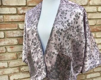 Silk Kimonos, Floral Pink, Kimono Cardigan, Kimono Boho, Women's Cardigan, Kimono Cardigan, Women's Gifts, Swim Cover, Mother Of Bride,